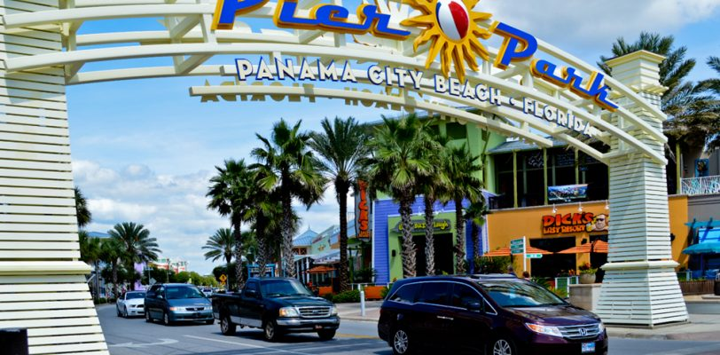 Panama City Beach, Florida - Pier Park is blocks of specialty stores, restaurants, colorful buildings and fun.