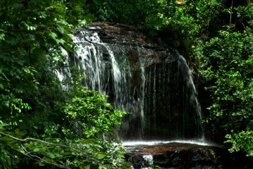 Issaqueena Falls near Walhalla, SC. South Carolina, waterfalls, stream, creek