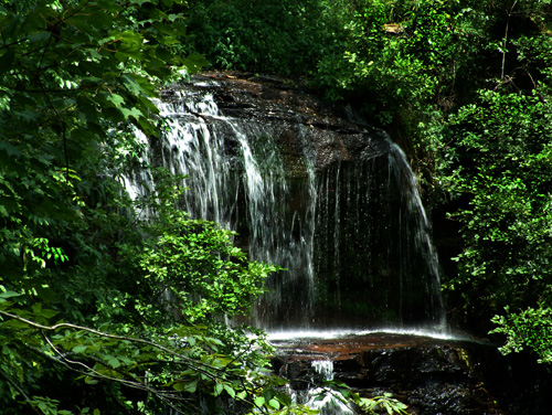 Issaqueena Falls near Walhalla, SC. South Carolina, waterfalls, stream, creek