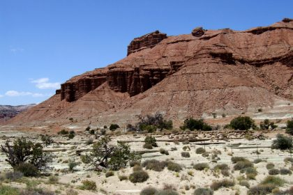 The San Rafael Swel in Utah produced more dinosaur fossils than anywhere else in the world. Included in this area are beautiful colors and landscapes.
