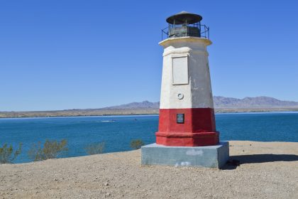 Lake Havasu, Arizona is a beautiful lake with year round camping and tourism.